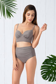 High Waisted Ruched Brief (New Colours)  - amanté Swimwear