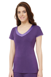 Satin Edge Pyjama Top (New Colours)  - amanté Sleepwear