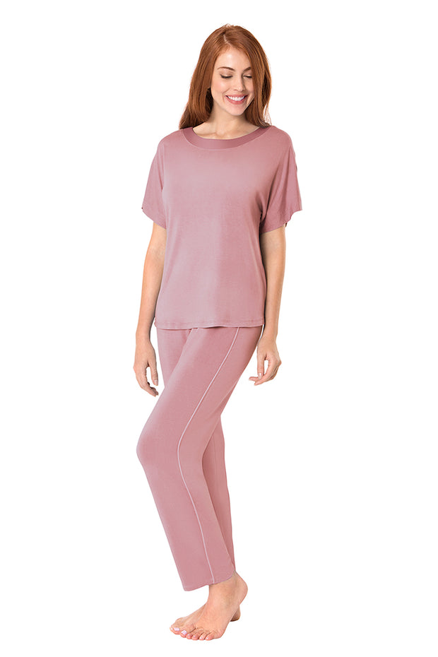 New Satin Edge Pyjama Top  - amanté Sleepwear