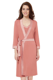 Satin Edge Robe  - amanté Sleepwear