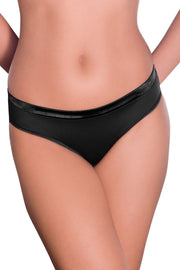 Satin Edge Panty (New Colours) S / Black - amanté Pantie