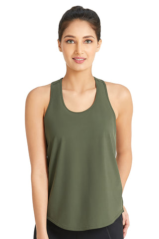 Racerback Tank with Keyhole Detail