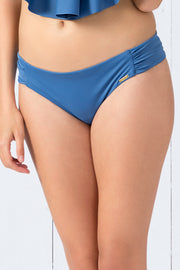 Ruched Bikini Bottom S / Globe - amanté Swimwear