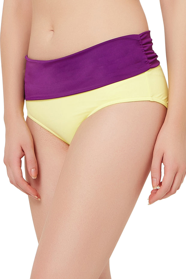 Ruched Swim Bottom (New Colours) S / Lemonade - amanté Swimwear