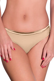 Satin Edge Panty (New Colours) XL / Nude - amanté Pantie