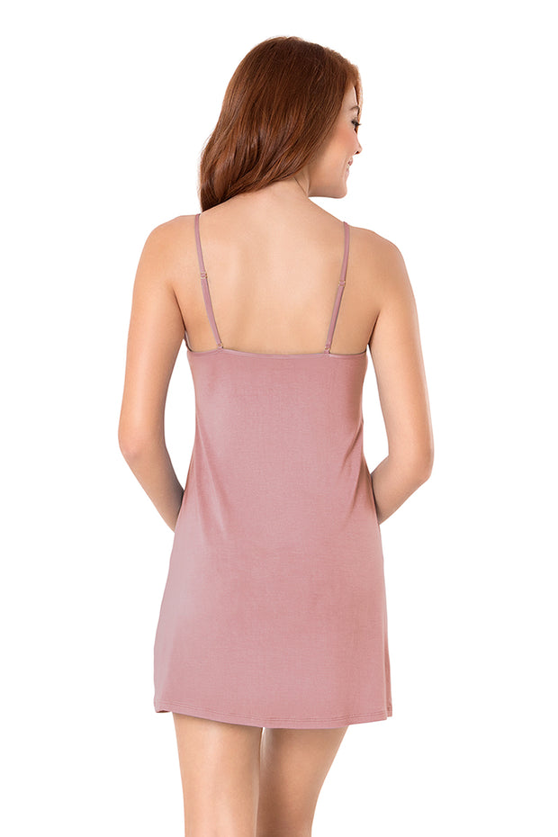 Satin Edge Sleep Dress  - amanté Sleepwear