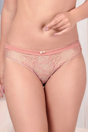 Secret Garden Bikini with Satin Waist S / Rose Tan - amanté Pantie
