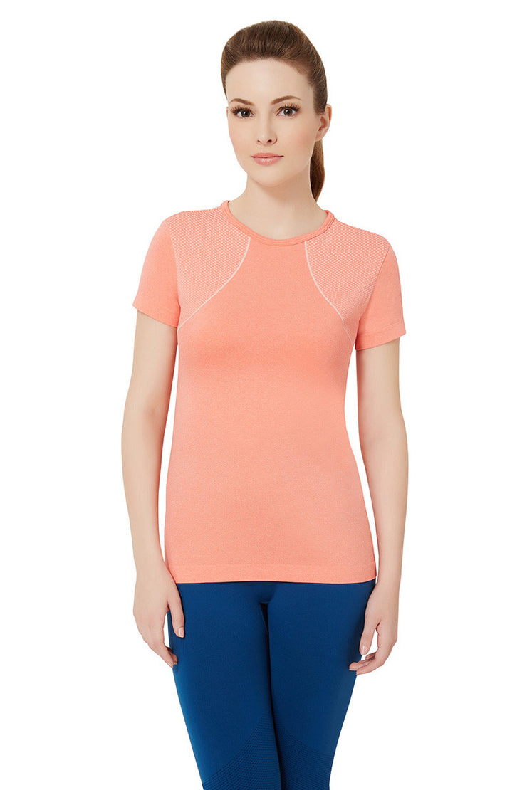 Short Sleeve Sports T-Shirt S / Porcelain Rose - amanté Sportswear