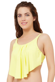Flounced Swim Top S / Lemonade - amanté Swimwear