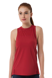Tank Top with Mesh Detail S / Deep-Claret - amanté Sportswear