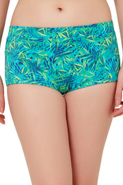 Swim Boyshort (New Colours) S / Tropical Palm Print - amanté Swimwear