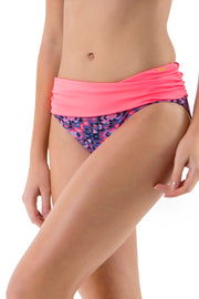 Ruched Swim Bottom (New Colours) S / Tribal Print - amanté Swimwear