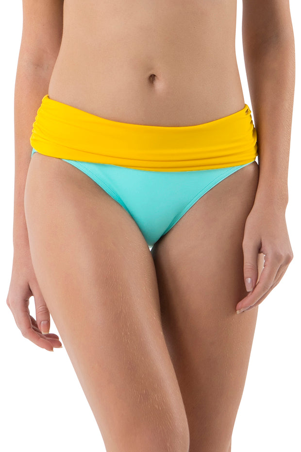 Ruched Swim Bottom (New Colours) S / Mint Frost - amanté Swimwear