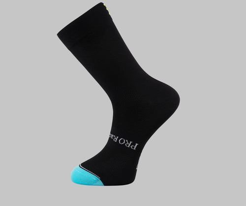 black cycling socks PONGO London cycling socks
