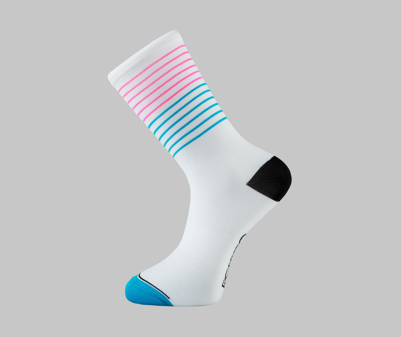 breton stripe cycling socks