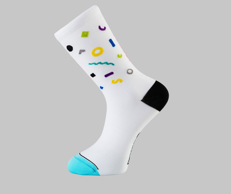 White Cycling Socks - Pick N' Mix