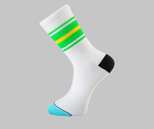 band lines green cycling socks Pongo London