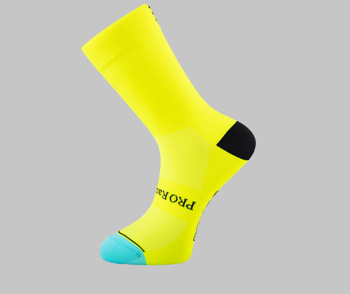 yellow cycling socks PONGO London cycling socks