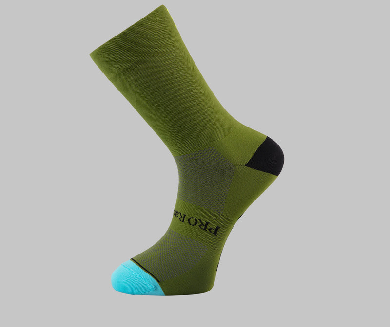 olive green cycling socks PONGO London cycling socks