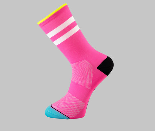 pink cycling socks Pongo London cycling best