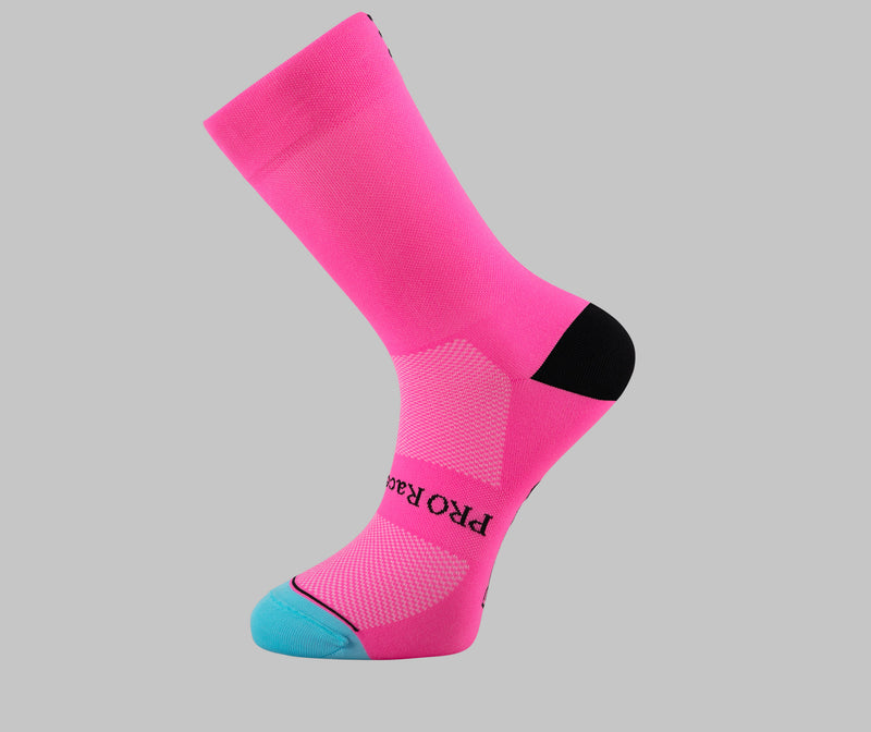 pink cycling socks PONGO London cycling socks