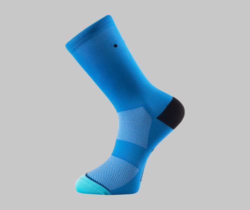azure blue cycling socks