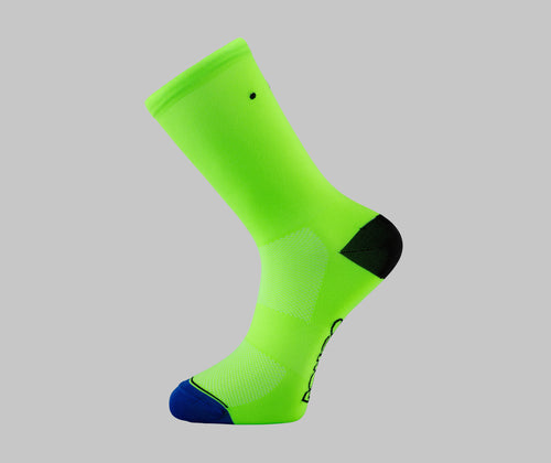 fluorescent green cycling socks