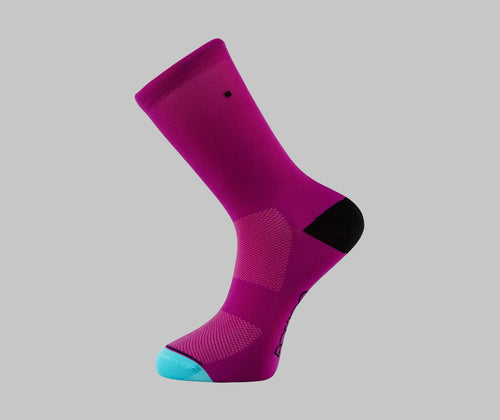 magenta cycling socks
