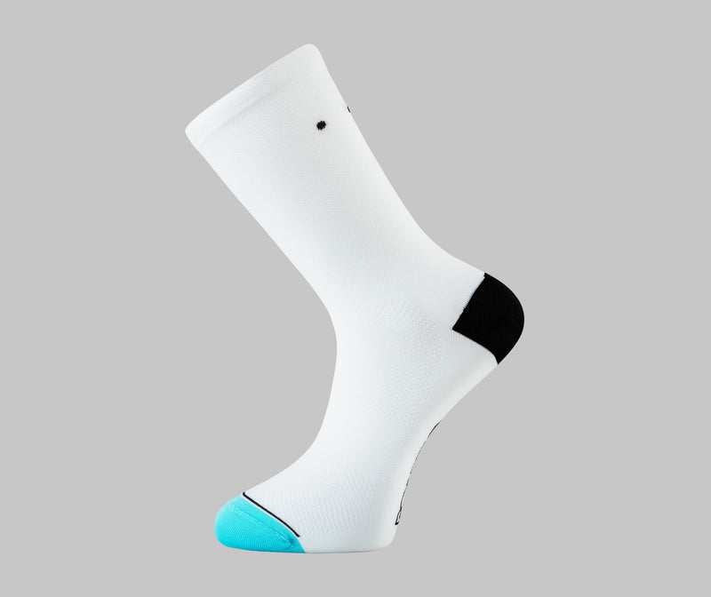 classic white cycling socks