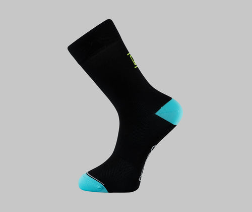 Classic black pro race cycling socks