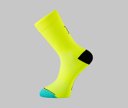 fluro yellow cycling socks pro race