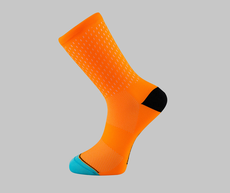 orange cycling socks hi-vis