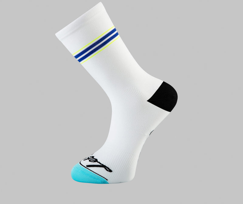 Pin Stripe - Cycling Socks - Blue