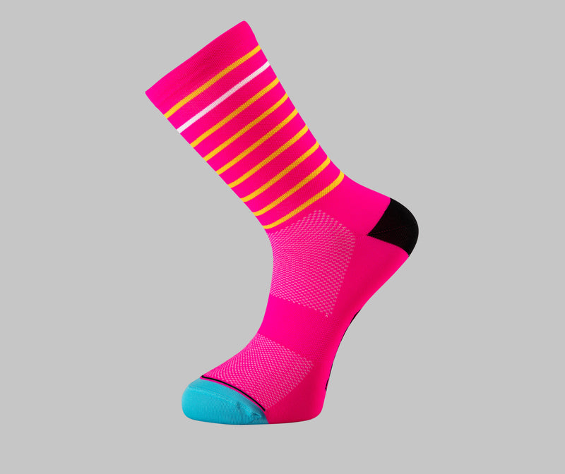 pink cycling socks hoop Pongo London cycling socks best cycling socks