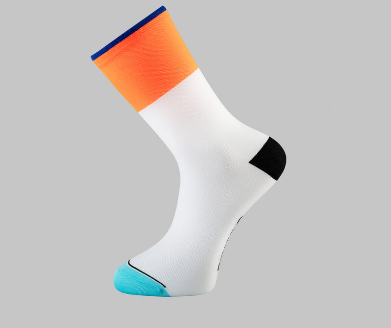 orange cycling socks dip  Pongo London socks Netherland cycling socks