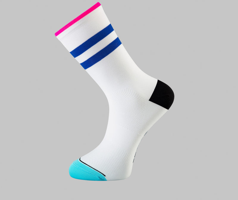 white cycling socks Pongo London cycling best uk cycling socks