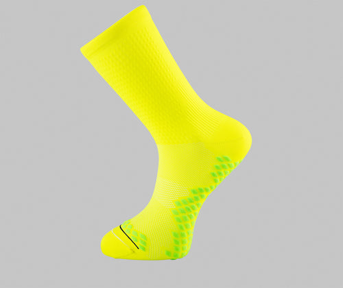 fluorescent yellow cycling socks Pongo London cycling