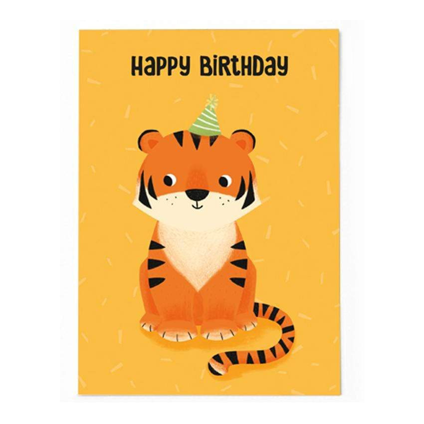 54 Illustration Postkarte Happy Birthday - Tiger