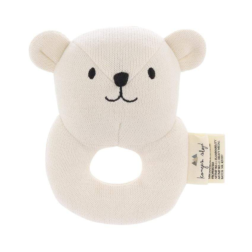 Baby-Rassel off white Mini-Bear von Konges Slojd