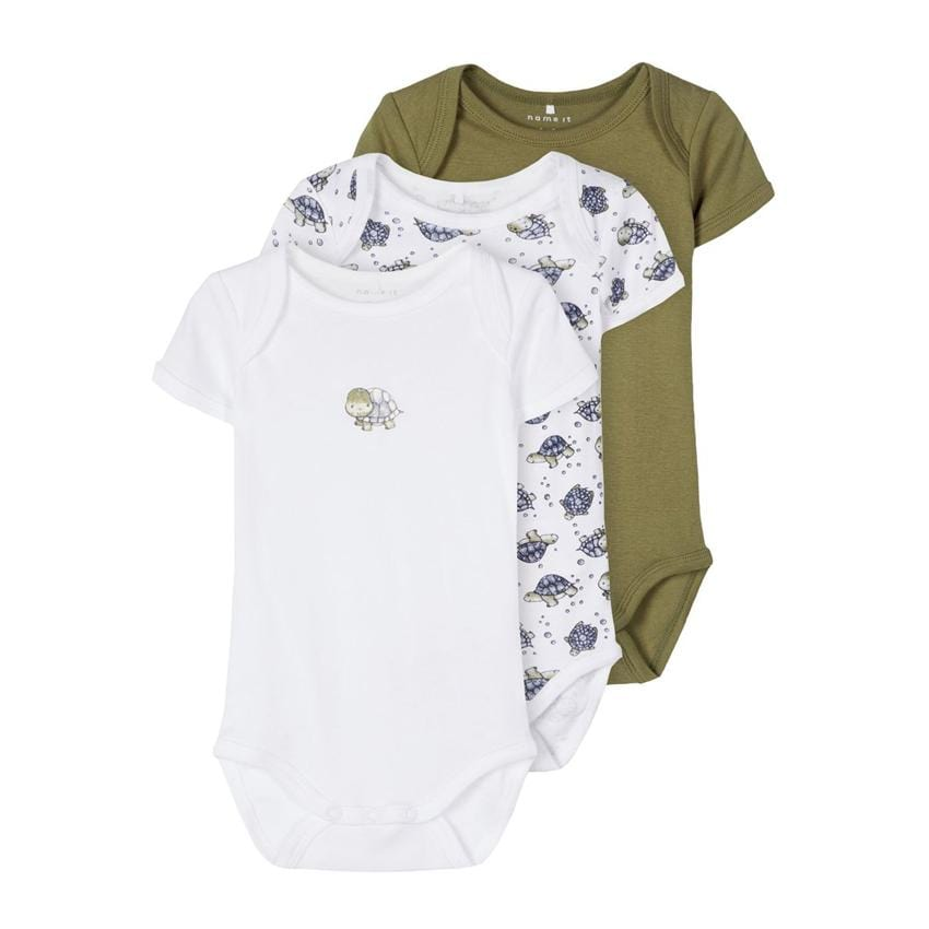 Name it 3er-Set Bodys turtle loden green