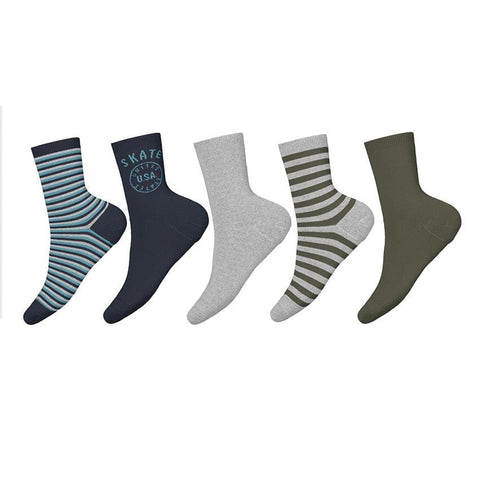 name it 5er-Pack Socken NMMVAGN grey melange