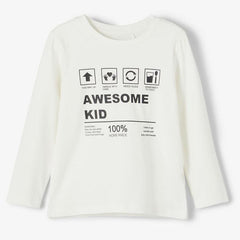 name it Longsleeve NMNBILLAN snow white