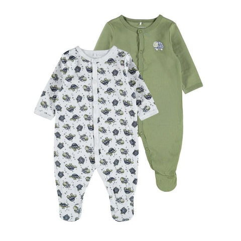 Name it 2er-Pack Babypyjama TURTLE