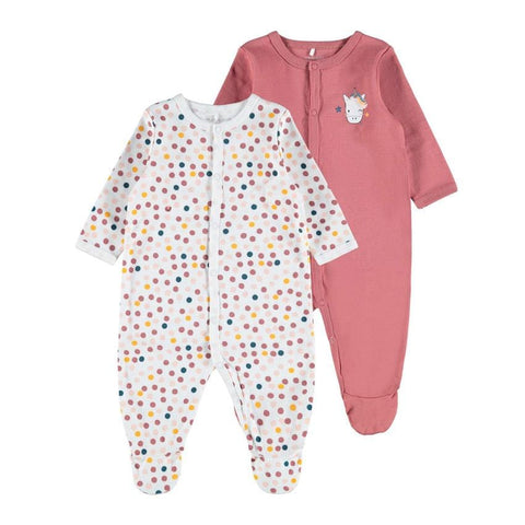 name it 2er-Pack Babypyjama UNICORN