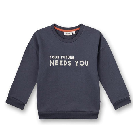 Sanetta pure Pullover Your future needs you blau