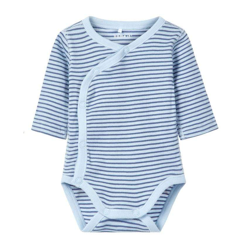 Frühchen-Body stripes blau von Name-it