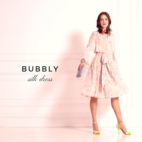 PASTEL BUBBLE SILK DRESS - IvanaRosova