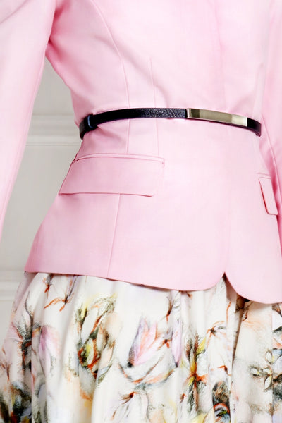 LIGHT ROSE TAILORED MERINO WOOL JACKET - IvanaRosova