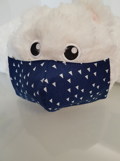Ivana Rosova - textile face mask - children - dark blue