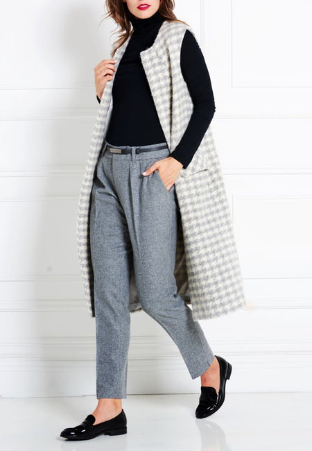 GREY MERINO WOOL TROUSERS